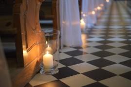 Ceremonia detal ślubny świece