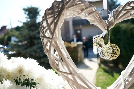 Ceremonia detal serca ozdoba ślubna