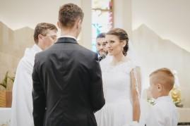 Ceremonia i składanie przysięgi małżeńskiej przez Pani Młodą
