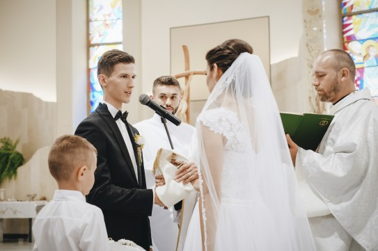 Ceremonia i składanie przysięgi przez Pana Młodego