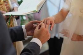 Ceremonia obrączki ślubne