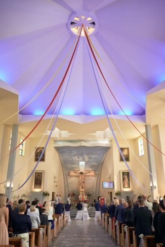 Ceremonia piękny kościół i wystrój perspektywa