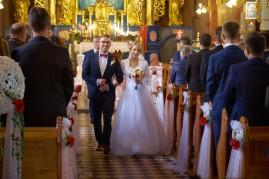 Ceremonia wyjście Państwa Młodych z kościoła