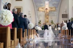 Cremonia kościół z perspektywy