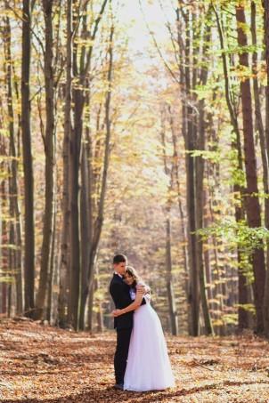Plener ślubny las w Hermanowej
