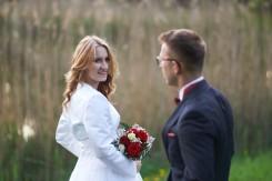Plener ślubny Pani Młoda spojrzenie Krasiczyn