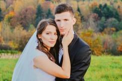 Plener ślubny portret jesienny Sołonka
