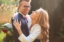 Plener ślubny radosny portret w Krasiczynie