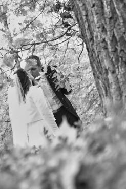 Plener ślubny w czerni i bieli