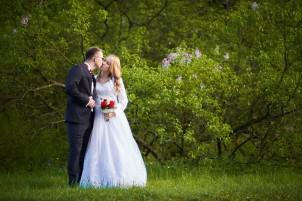 Plener ślubny w parku w Krasiczynie