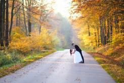 Plener ślubny złota droga w Hermanowej