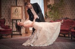 Plener Zamek zakochana Para Młoda tańczy
